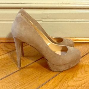 Shoes - Taupe suede heels